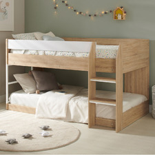 Light Timber Grace Low Line Single Bunk Bed