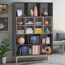 Grey Marion Display Bookshelf