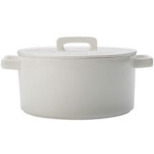 White Epicurious Round 24cm Porcelain Casserole