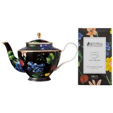 Black Teas & C's Contessa 1L Porcelain Teapot with Infuser