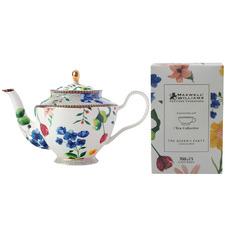 White Teas & C's Contessa 1L Porcelain Teapot with Infuser