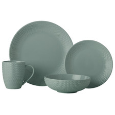 16 Piece Sage Corallo Porcelain Coupe Dinner Set