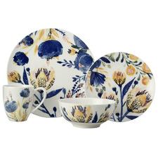 16 Piece Fiorella Porcelain Coupe Dinner Set