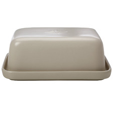 Taupe Moderna Stoneware Butter Dish