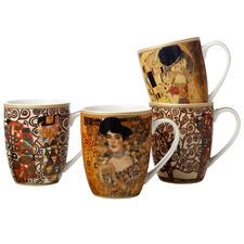 4 Piece Impressions Klimt 375ml Porcelain Mug Set