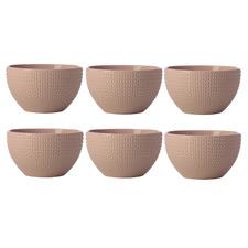 Pink Corallo 13.5cm Porcelain Bowls (Set of 6)