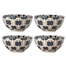 Terracotta Sintra 12.5cm Porcelain Bowls (Set of 4)