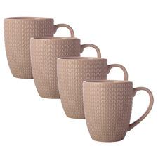 Pink Corallo 360ml Porcelain Mugs (Set of 4)