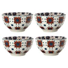 Terracotta Sintra 10cm Porcelain Bowls (Set of 4)