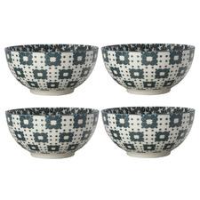 Light Green Sintra 15cm Porcelain Bowls (Set of 4)