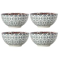 Terracotta Sintra 15cm Porcelain Bowls (Set of 4)