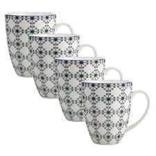 Light Green Sintra 400ml Porcelain Mugs (Set of 4)