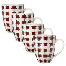 Terracotta Sintra 400ml Porcelain Mugs (Set of 4)