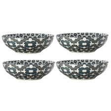 Light Green Sintra 18cm Porcelain Coupe Bowls (Set of 4)