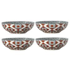 Terracotta Sintra 18cm Porcelain Coupe Bowls (Set of 4)