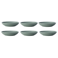 Sage Corallo 21.5cm Porcelain Porcelain Coupe Bowls (Set of 6)