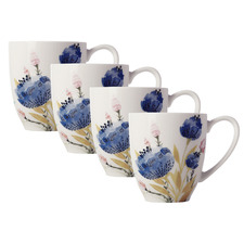 Fiorella 375ml Porcelain Mugs (Set of 4)