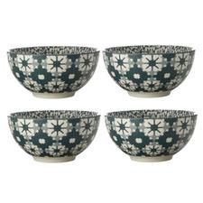 Light Green Sintra 12.5cm Porcelain Bowls (Set of 4)