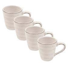 Portofino Quartz Conical 450ml Ironstone Mugs (Set of 4)