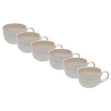Portofino Quartz Jumbo 650ml Ironstone Mugs (Set of 6)