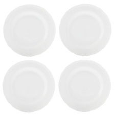 Casual White Florence 26cm Porcelain Dinner Plates (Set of 4)