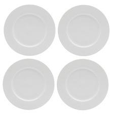 Casual White Evolve 26.5cm Porcelain Dinner Plates (Set of 4)