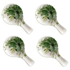 Botanical Ceramic Spoon Rests (Set of 4)