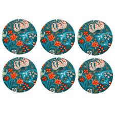 William Morris Liberty Ceramic Coasters (Set of 6)