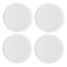 Pearlesque Coupe 26.5cm Fine Bone China Dinner Plates (Set of 4)