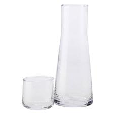 2 Piece Evolve Glass Carafe & Tumbler Set
