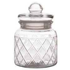 Trellis 650ml Glass Storage Jar