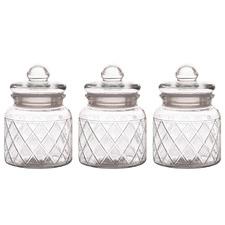 Trellis 650ml Storage Jars (Set of 3)