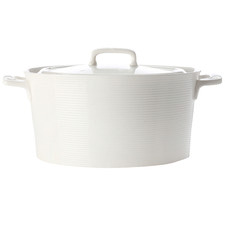 Casual White Evolve 2.6L Round Porcelain Casserole