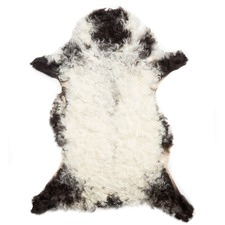 Black Curly Sheep Rug