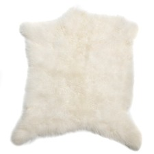 Frost Cashmere Goat Rug