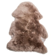 Soft Brown Sheepskin Rug