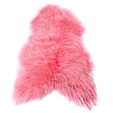 Candy Pink Icelandic Sheep Rug