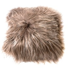 Latte Icelandic Sheep Leather Cushion