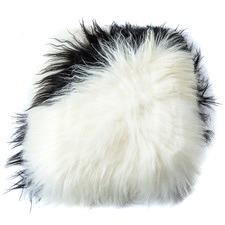 Dalmation Icelandic Sheep Leather Cushion