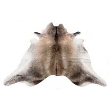 Silver Beige Natural Cowhide Rug