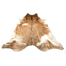 Caramel & White Natural Cowhide Rug