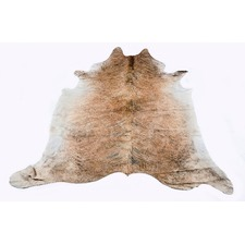 Medium Brindle Natural Cow Rug