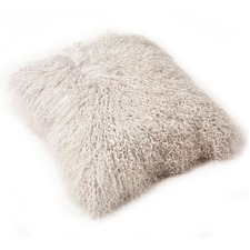 Ice Mongolian Sheepskin Cushion