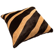 Zebra Tan Cow Hide Cushion