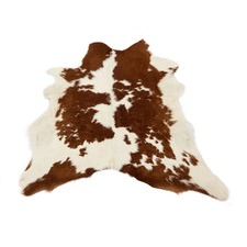 Brown & White Calf Hide Rug