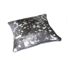 Grey & Silver Cow Hide Cushion