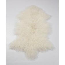 Ivory Mongolian Sheepskin Rug