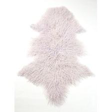 Lavender Mongolian Sheepskin Rug