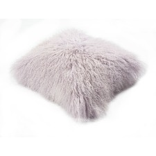 Lavender Mongolian Sheepskin Cushion