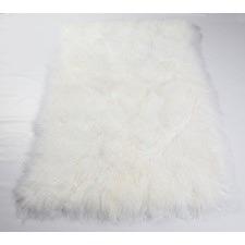 Ivory Mongolian Sheepskin Blanket